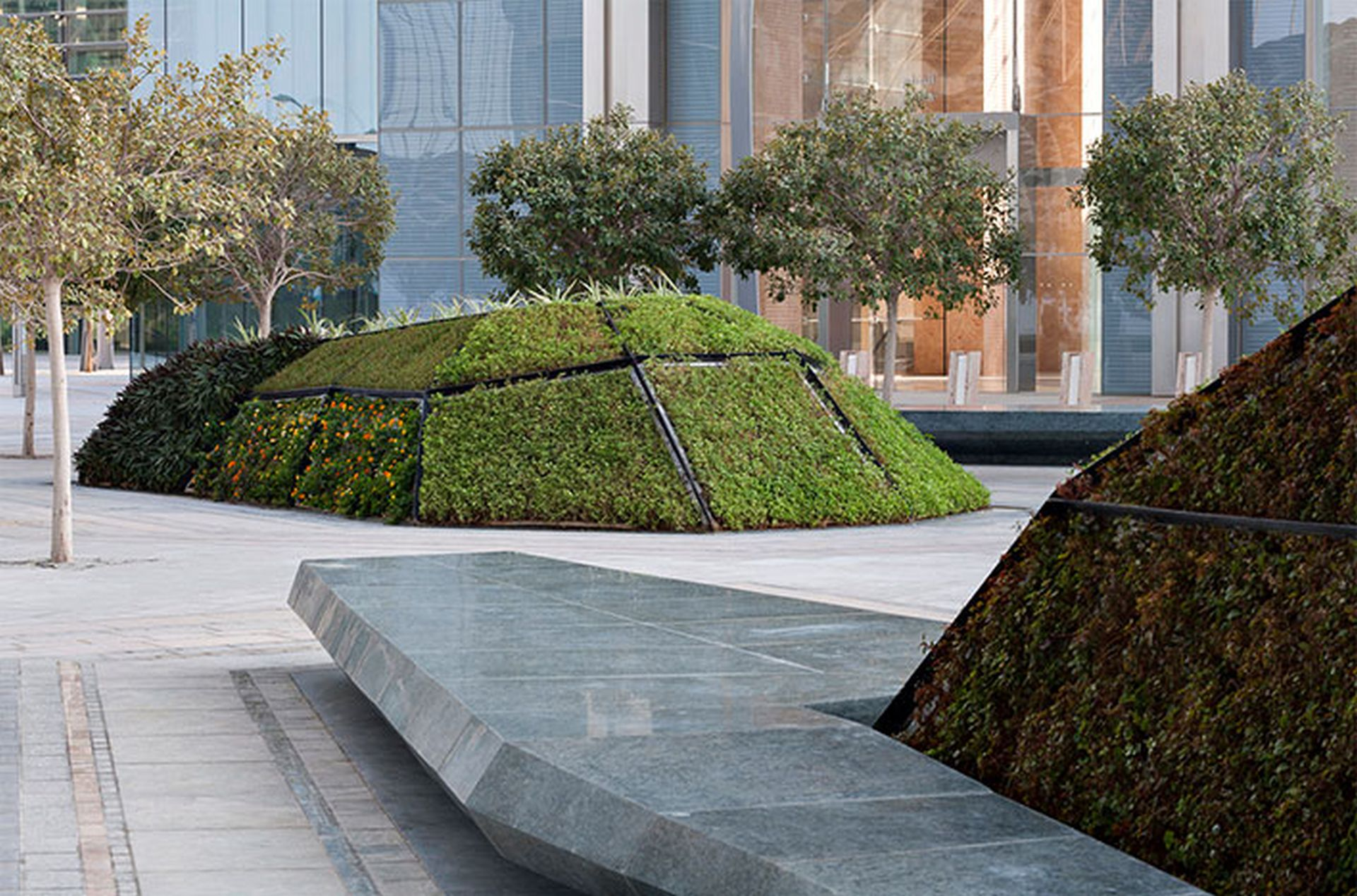 Places of high relief with different meadow by squares designed by one of the Best landscapers