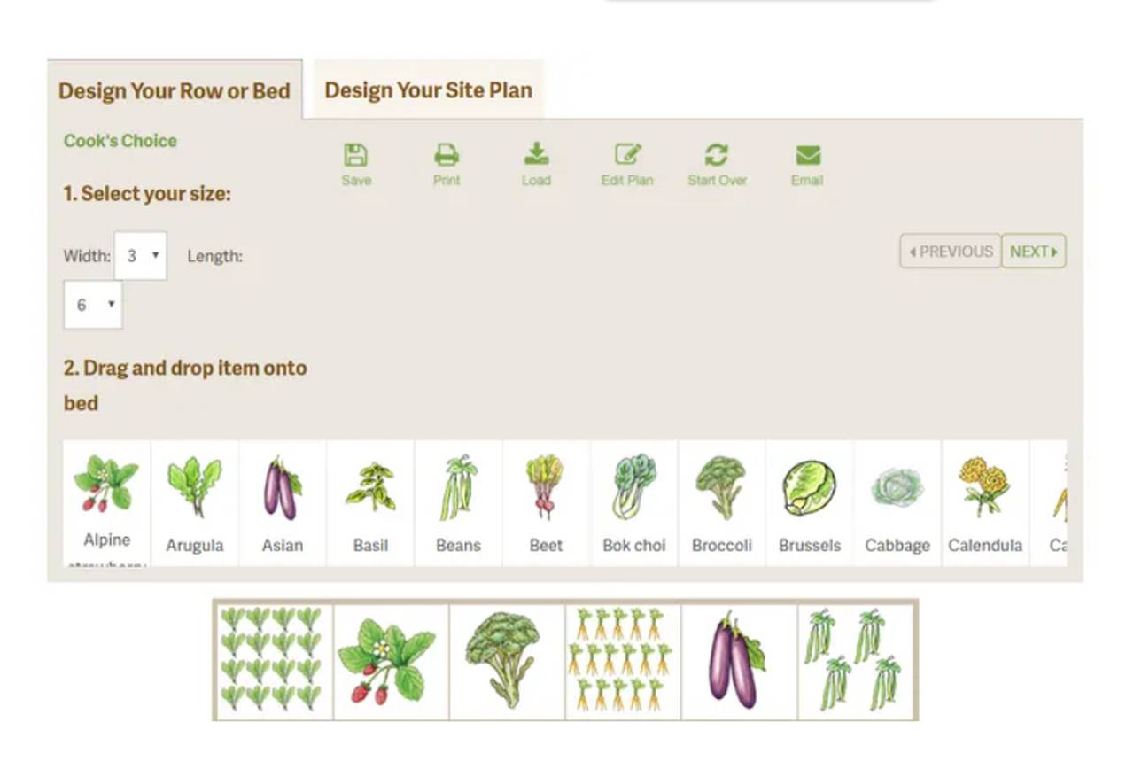 Tool showing different options for editing a garden so you can Design Patios Online