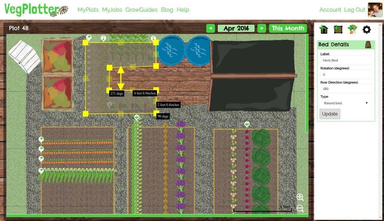 tool that shows different options for editing a garden so you can easily Design Patios Online