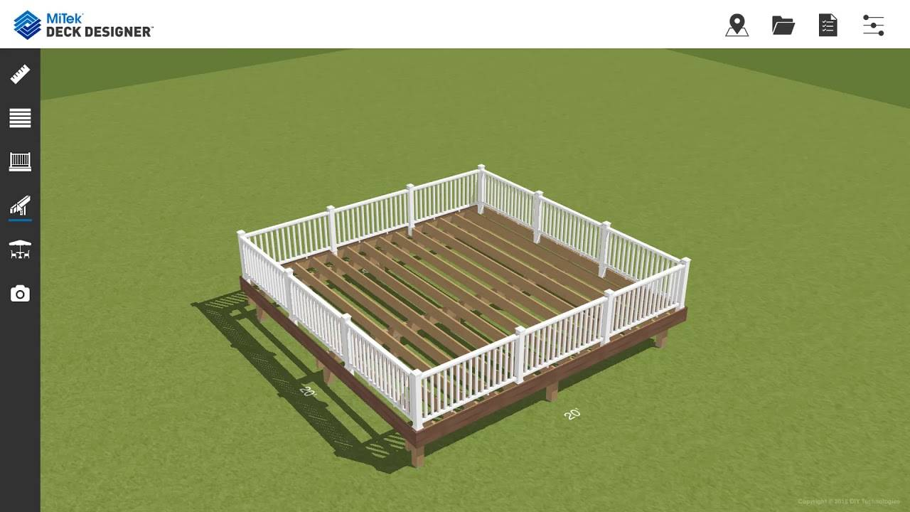 tool that shows different options for editing a garden in a 3D plan.