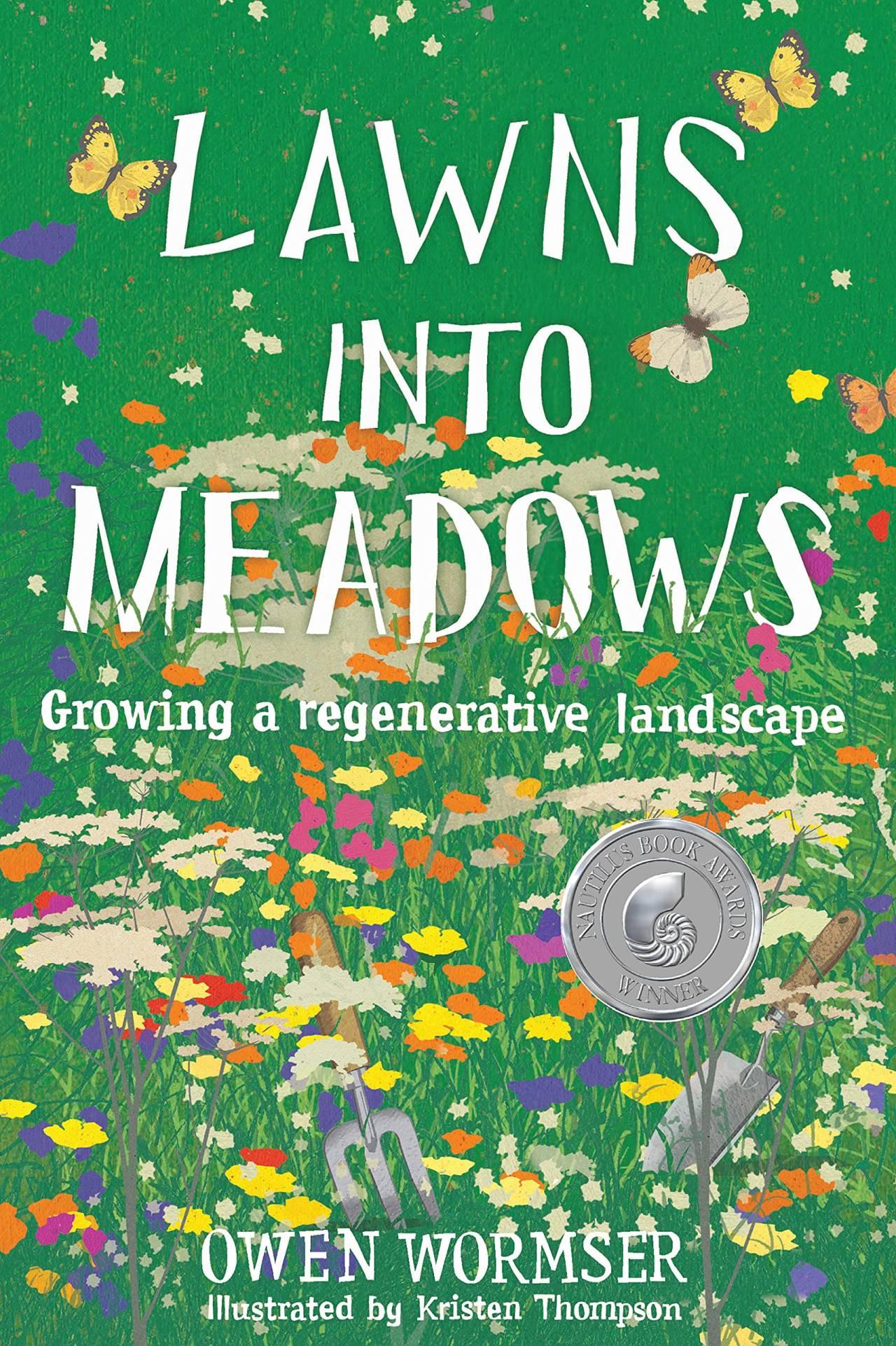 Portada del libro donde se muestra el titulo en la mitad y varias plantas y herramientas de jardineria dentras del titulo por toda la portada
